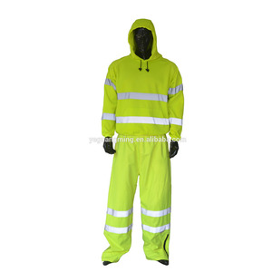 Fluo Yellow High Visibility Reflective Safety Jacket