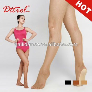 D004813 Dttrol cheap professional dance seamless fishnet tights for girls