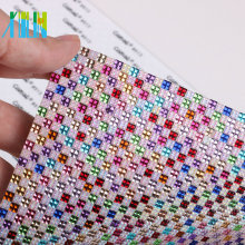 GTA0706 Adhensive Sheet Resin Flatback Rhinestone Diamond Wrap Jewelled Ribbon Trim Wholesale