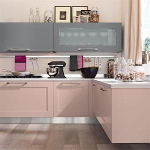 2018 Hangzhou Vermont Laminate Pink Kitchen Styles Pictures Cabinet Kitchen Designs