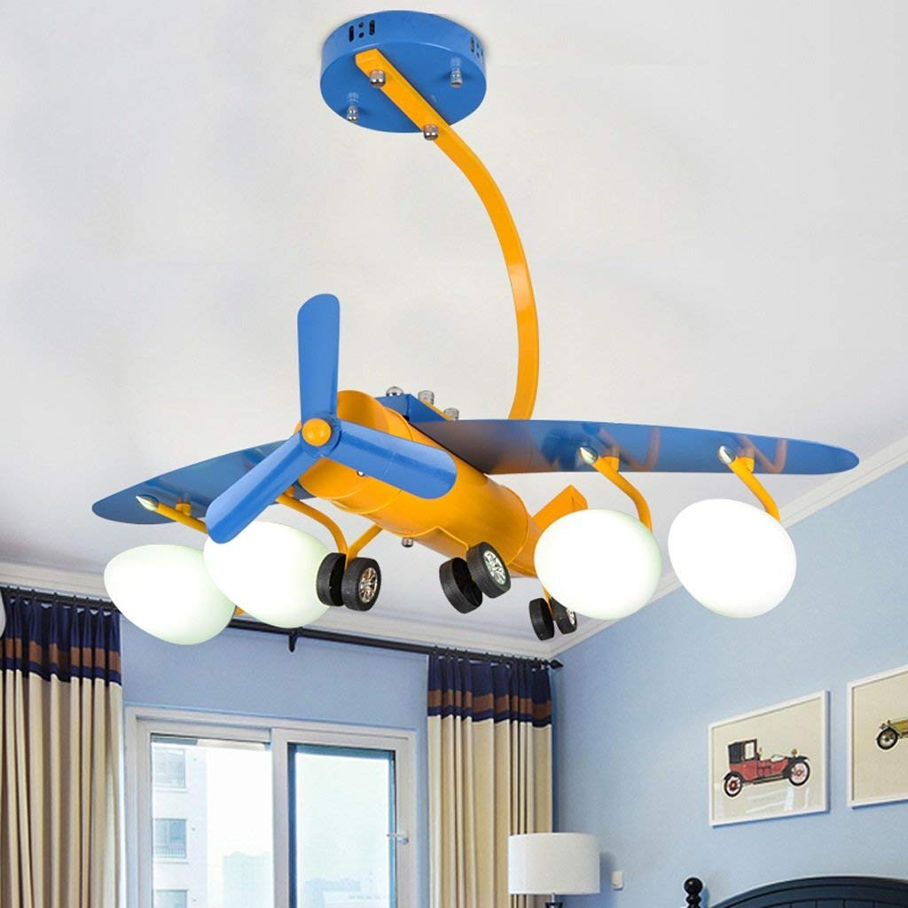 Fu Man Li Trading Company Creative Iron Flying Light Children's Room Light Boys Bedroom Ceiling Lamps LED Cartoon Lighting Individuality Light A+