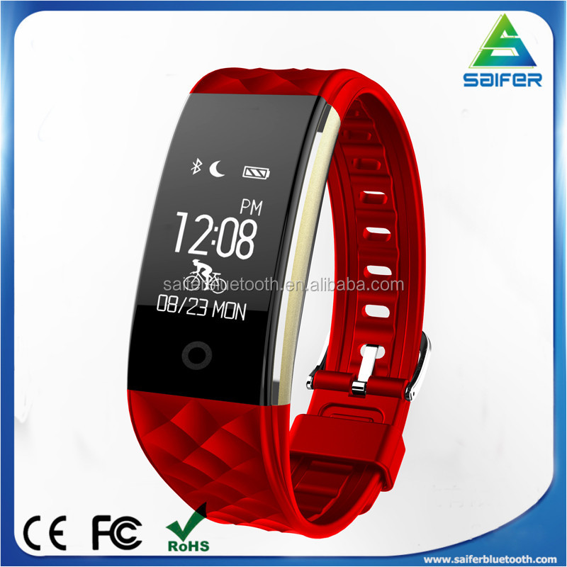 2017 Latest S2 Dynamic heart rate fitness smart bracelet with IP67 Waterproof and Long Standby China Factory