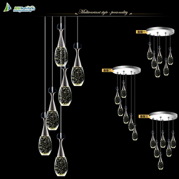 Round Stainless Steel Ceiling Lamp Designer Chandelier Pendant Lighting Led Product On