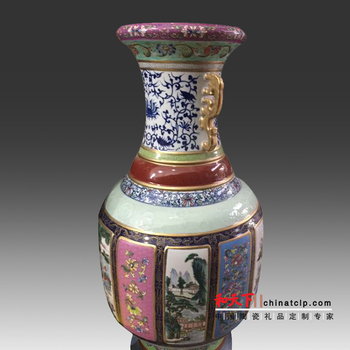 18m China Great Wall Painting Ceramic Tall Vase Blue White Buy