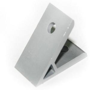 China die cast 45 degree angle corner bracket connector with 2 holes for aluminum profile 4040