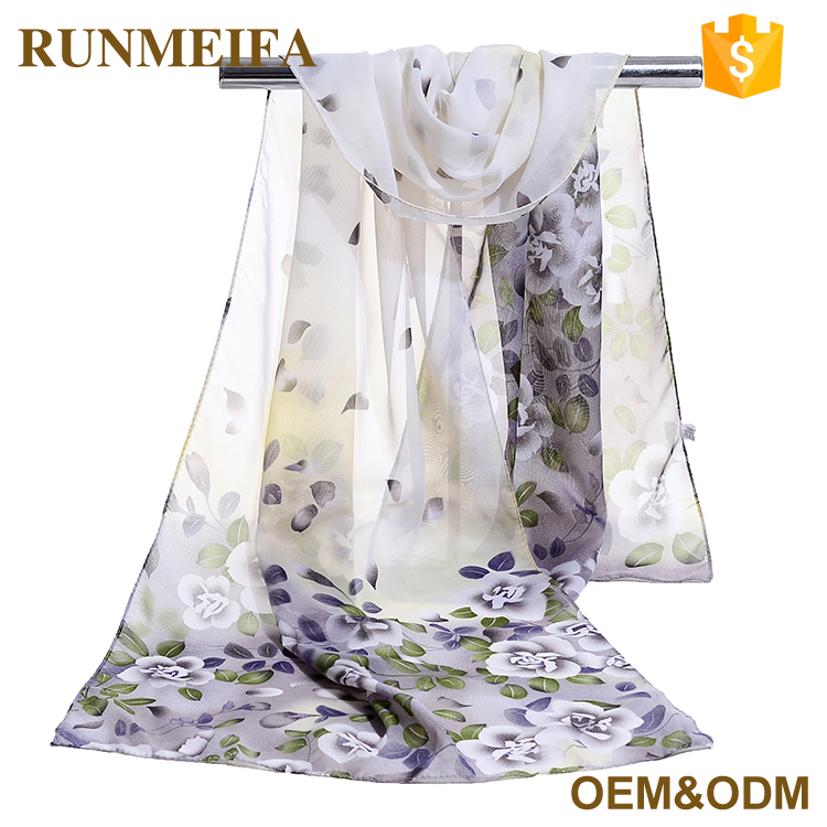 Chinese Silk Lady Fashion Chiffon <strong>Scarf</strong> With High Quality