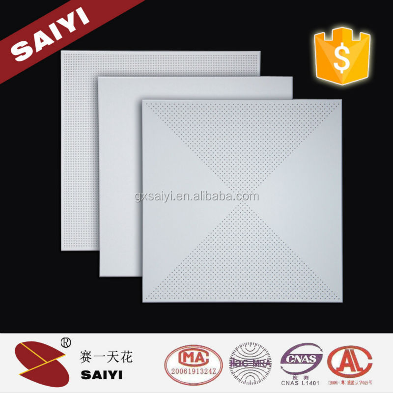 Decorative Indoor Square White False Aluminum Suspended Ceiling Tiles