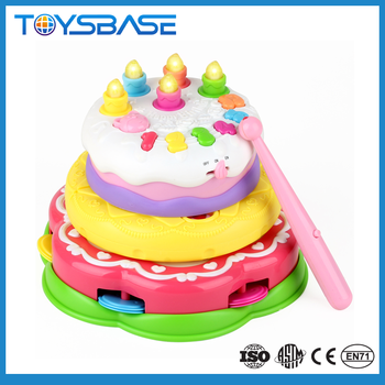 Hot Selling China Wholesale Cartoon Characters Toy Birthday - Plastic birthday cake