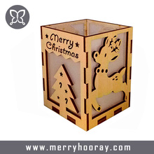 High Quality MDF Wood Candle Holder Romantic Christmas Decor