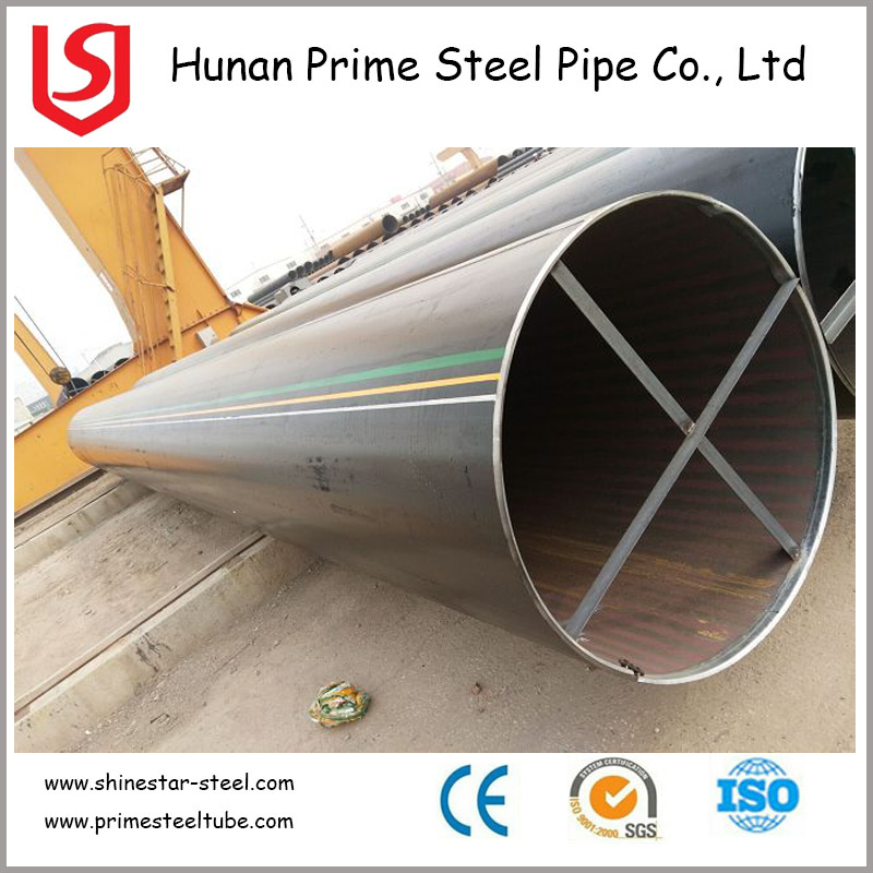 Longitudinal electric resistance welded steel Pipe / ST52 LSAW / DSAW Carbon Steel Pipe China supplier