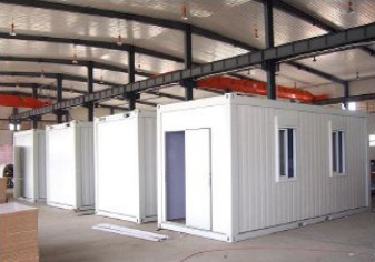 Refugee living house container house with toilet and kitchen