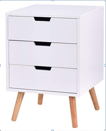 Product Detail White Wooden Bedroom Furniture 3 Drawer Chest Cabinet Night Stand Djimart