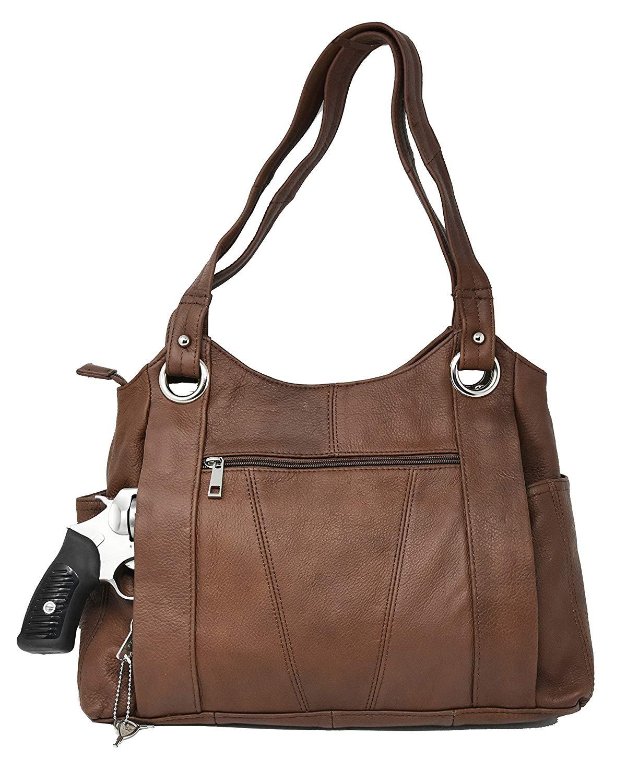 0663789b2389 Buy Medium Brown Crossbody Leather Locking Concealment Purse - CCW ...