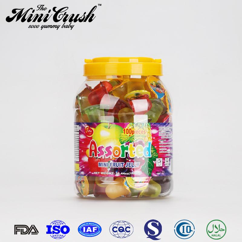 Mixed fruit mini jelly cup ,high quality vitamin fruit shaped gummy jelly candy