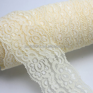 "2"" Embroidery elastic lace trim wide stretch lace trim"