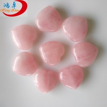 Cheap quartz crystal hearts polished heart shaped stones natural rose quartz crystal hearts