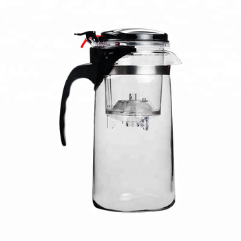 High quality glass teapots with infuser and plastic lid
