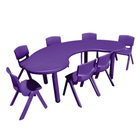 China children's school furniture kids daycare furniture kids plastic tables and chairs