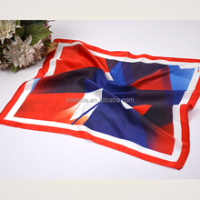 100% Square Silk Satin Scarf Chinese Sublimation Print