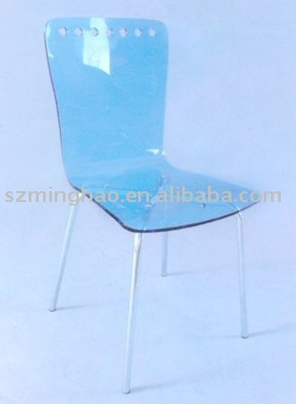 Wholesale Low Price Blue Acrylic Side Chairs/ Cheap Acrylic Dining ...