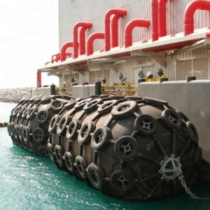 Dia 3300mm x 6500mm Length 80Kpa China New Flange Design Marine Supplies Dock Pneumatic Rubber Fender For Ship