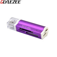 2015 Micro SD / TF M2 MMC SDHC MS Duo High Speed Multi USB 2.0 All in One Card Reader Use for Mobile Phone Card Computer Camera