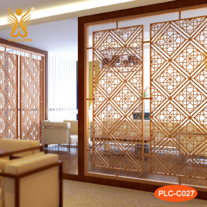 Metal wrought iron movable room dividers for rooms.
