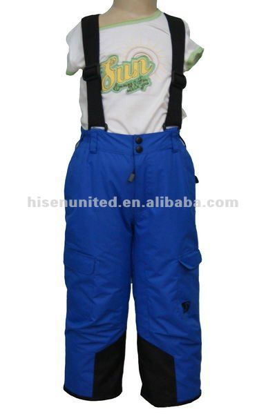 Children Seam-taped Padded Ski Pant with Inner Snow Cuffs