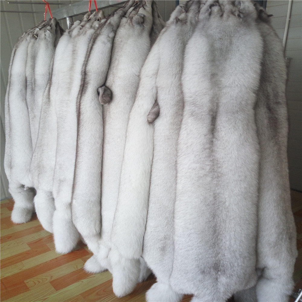 Blue Fox Fur Skins Chinese Blue Fox Fur Pelt For clothes Hood