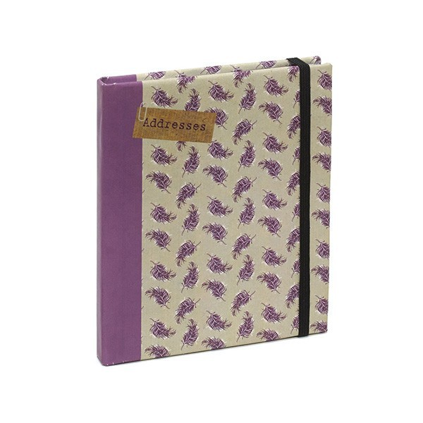 Buying kraft paper hardcover address book with elastic band from China