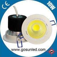 10W cob led downlight with one axle rotatable