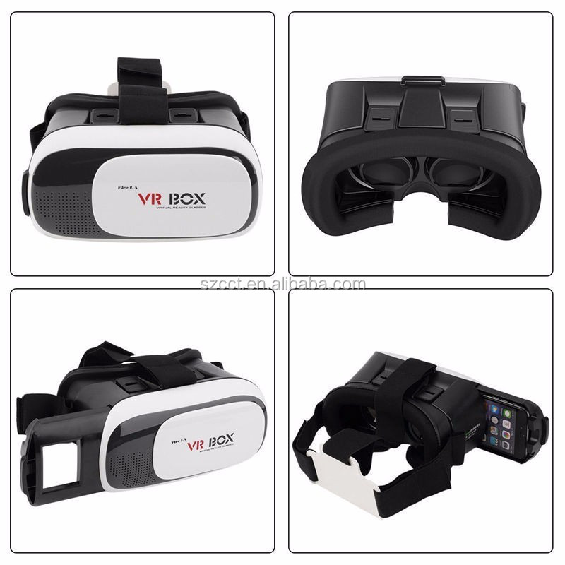 2017 High quality virtual reality 3d vr glasses, ABS plastic vr box for Apple IOS, Android