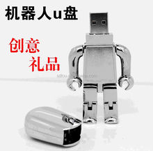 hotsale new robot usb flash drives metal material 4gb 8gb 16gb 32gb 64gb with custom logo engraved