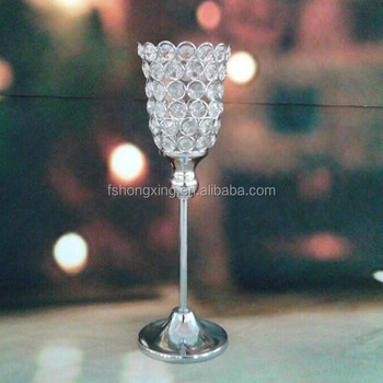Tall Crystal Flower Vase Stand Wedding Crystal Table Centerpieces