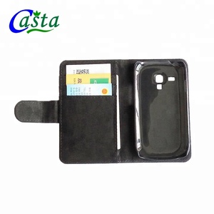 Blank DIY Fashion phone holster luxury leather case Mobile phone shell Sublimation phone holster for Samsung Galaxy S3 Mini