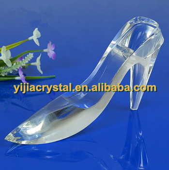 Optical Shining Crystal Glass Shoes Model,Handcrafted Crystal High ...