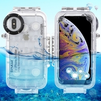 2019 newest design PULUZ 40m/130ft Waterproof Diving Housing Photo Video Taking Underwater Cover Case for iPhone XS Max