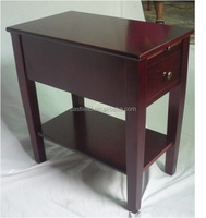 Solid wood Chairside Table with one drawer