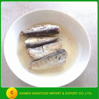 Hot Sale 125g easy open Canned Sardine in Club Can from China