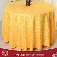FFG Wholesale luxury round types of hotel table covers