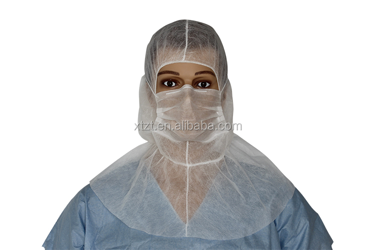 Disposable nonwoven face mask head loop & PP Protective Balaclava caps