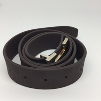 NO Animal Leather Washable Silicone Rubber Belt For Men With Plastic Or Metal Buckle