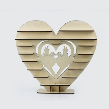 Love Birds Design Wood Chocolate Display Stand