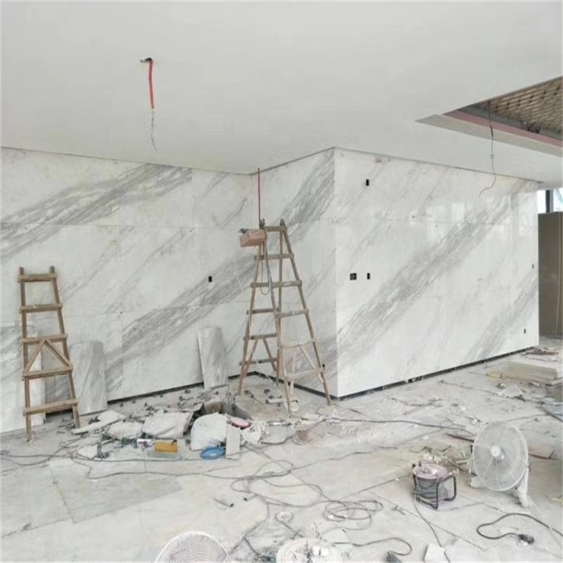 Venus white marble slabs price for synthetic marble flooring tiles