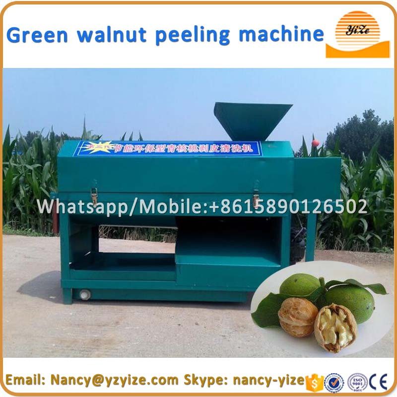 Fresh green walnut nuts peeling cleaning sheller machine for sale