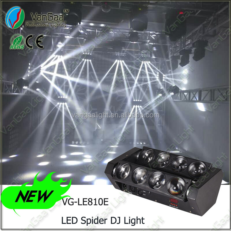 2015 new hot LED 8pcs 10w beam mobile stage DJ lighting for sale