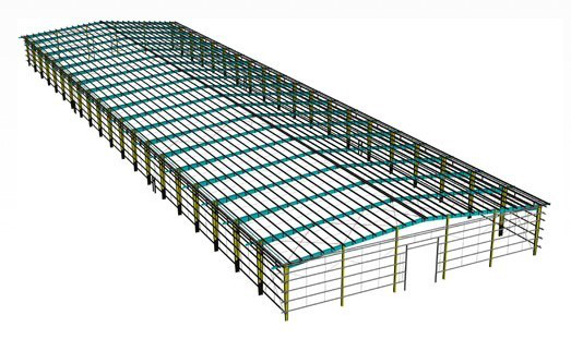 Modern Chinese steel structure building warehouse in USD with steel roof trusses