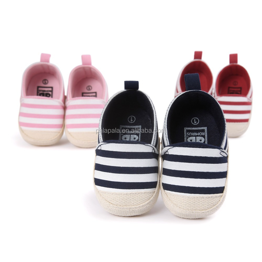 Top quality brand romirus striped baby sport shoes kids soft baby prewalker shoes