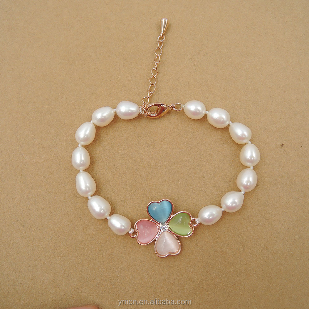 HIGH QUALITY RICEshape Freshwater Pearl Bracelet With gold palting accessory jewelry
