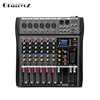 6 channel Flexible and high efficient powered audio mixer